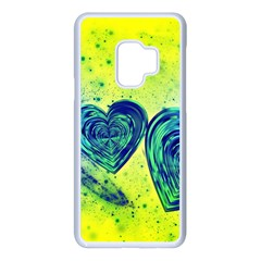 Heart Emotions Love Blue Samsung Galaxy S9 Seamless Case(white) by HermanTelo