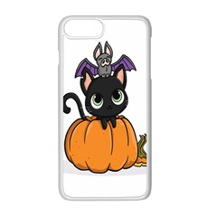 Halloween Cute Cat Iphone 8 Plus Seamless Case (white)