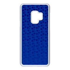 Background Polka Blue Samsung Galaxy S9 Seamless Case(white) by HermanTelo