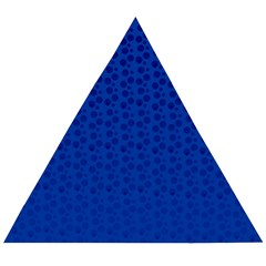 Background Polka Blue Wooden Puzzle Triangle