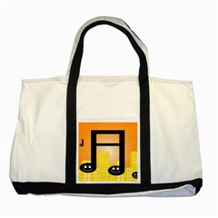 Abstract Anthropomorphic Art Two Tone Tote Bag
