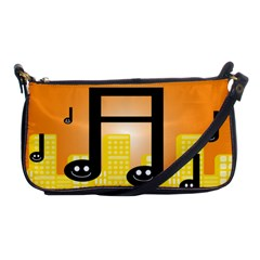 Abstract Anthropomorphic Art Shoulder Clutch Bag by HermanTelo