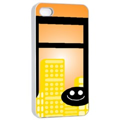 Abstract Anthropomorphic Art Iphone 4/4s Seamless Case (white)