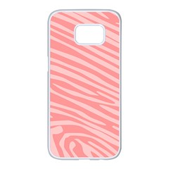 Pattern Texture Pink Samsung Galaxy S7 Edge White Seamless Case