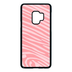 Pattern Texture Pink Samsung Galaxy S9 Seamless Case(black) by HermanTelo