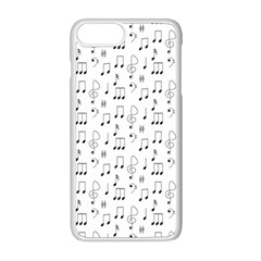 Music Notes Background Wallpaper Iphone 8 Plus Seamless Case (white)