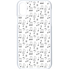 Music Notes Background Wallpaper Iphone X Seamless Case (white)