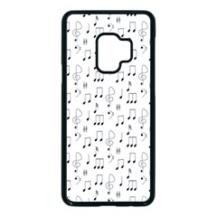 Music Notes Background Wallpaper Samsung Galaxy S9 Seamless Case(black) by HermanTelo