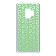 Background Polka Green Samsung Galaxy S9 Seamless Case(white) by HermanTelo