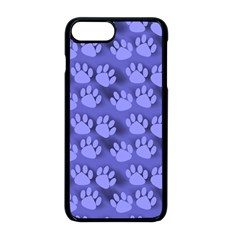 Pattern Texture Feet Dog Blue Iphone 8 Plus Seamless Case (black)