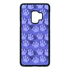 Pattern Texture Feet Dog Blue Samsung Galaxy S9 Seamless Case(black) by HermanTelo
