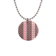 Wallpaper Cute Pattern 1  Button Necklace by HermanTelo