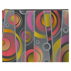 Abstract Colorful Background Grey Cosmetic Bag (xxxl)