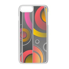 Abstract Colorful Background Grey Iphone 8 Plus Seamless Case (white)