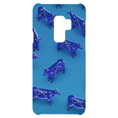 Cow Illustration Blue Samsung S9 Plus Black Uv Print Case by HermanTelo
