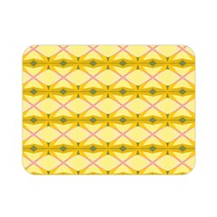 Pattern Pink Yellow Double Sided Flano Blanket (mini)  by HermanTelo