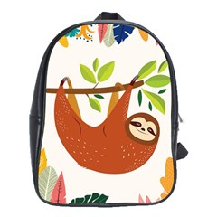 Funny Sloth School Bag (large)