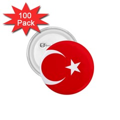 Flag Of Turkey 1 75  Buttons (100 Pack)  by abbeyz71