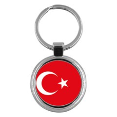 Flag Of Turkey Key Chain (round) by abbeyz71