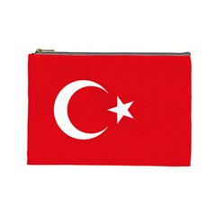 Flag Of Turkey Cosmetic Bag (large) by abbeyz71