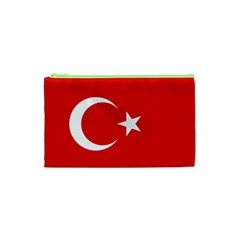 Flag Of Turkey Cosmetic Bag (xs) by abbeyz71