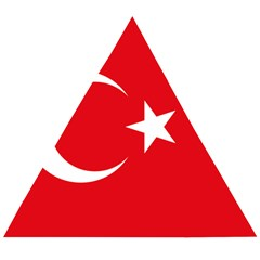 Flag Of Turkey Wooden Puzzle Triangle by abbeyz71