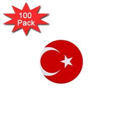 Vertical Flag Of Turkey 1  Mini Buttons (100 Pack)  by abbeyz71