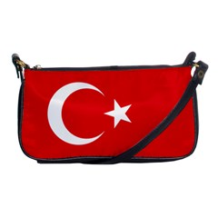 Vertical Flag Of Turkey Shoulder Clutch Bag by abbeyz71
