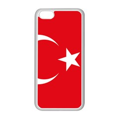 Vertical Flag Of Turkey Iphone 5c Seamless Case (white) by abbeyz71