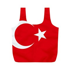 Vertical Flag Of Turkey Full Print Recycle Bag (m) by abbeyz71