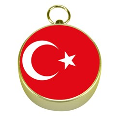 Vertical Flag Of Turkey Gold Compasses by abbeyz71