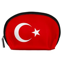 Vertical Flag Of Turkey Accessory Pouch (large) by abbeyz71