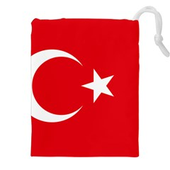 Vertical Flag Of Turkey Drawstring Pouch (2xl) by abbeyz71