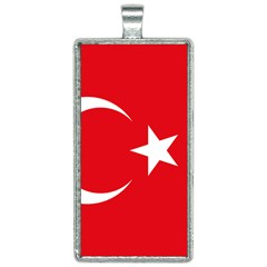 Vertical Flag Of Turkey Rectangle Necklace by abbeyz71