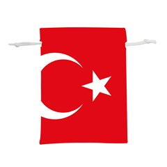 Vertical Flag Of Turkey Lightweight Drawstring Pouch (l)