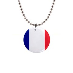 Flag Of France 1  Button Necklace by abbeyz71