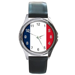 Flag Of France Round Metal Watch by abbeyz71