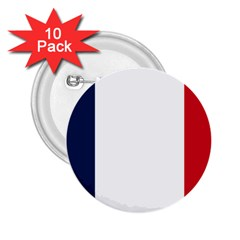 Flag Of France 2 25  Buttons (10 Pack)  by abbeyz71