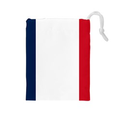 Flag Of France Drawstring Pouch (large) by abbeyz71