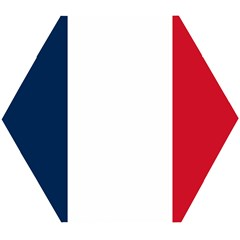 Flag Of France Wooden Puzzle Hexagon