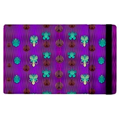 Peace Is Cool Again And Decorative Flowers Apple Ipad Pro 12 9   Flip Case by pepitasart