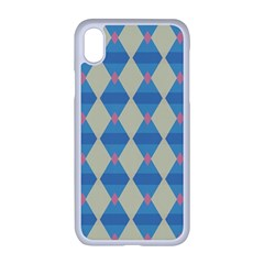 Pattern Texture Chevron Iphone Xr Seamless Case (white)