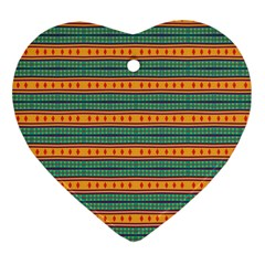 Background Texture Fabric Heart Ornament (two Sides)