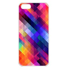 Abstract Background Colorful Pattern Iphone 5 Seamless Case (white)