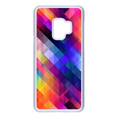 Abstract Background Colorful Pattern Samsung Galaxy S9 Seamless Case(white) by HermanTelo