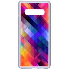Abstract Background Colorful Pattern Samsung Galaxy S10 Plus Seamless Case(white)