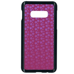 Background Polka Pattern Pink Samsung Galaxy S10e Seamless Case (black)