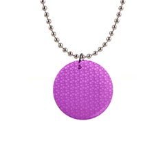 Background Polka Pink 1  Button Necklace by HermanTelo