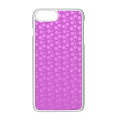 Background Polka Pink Iphone 8 Plus Seamless Case (white)