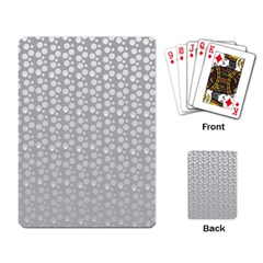 Background Polka Grey Playing Cards Single Design (rectangle)